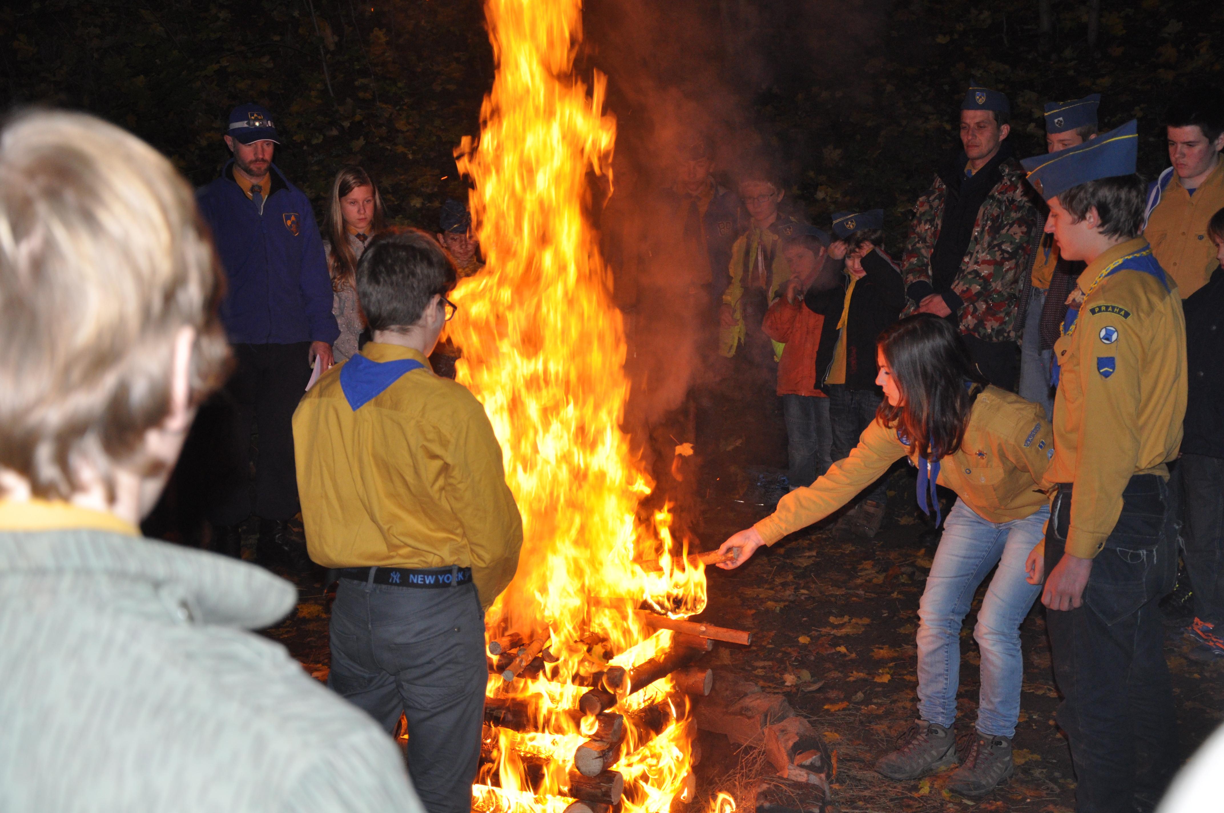 Zapálení ohně